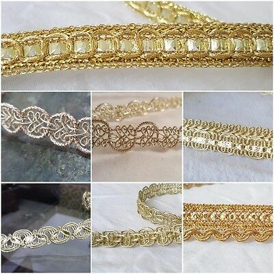 High quality Gorgeous gold sequins ribbon lace trim for crafts DIY sewing decor