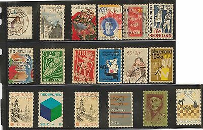 (U27-12) 1940-2004 Netherlands mix of 69 stamps value to 80c (D)