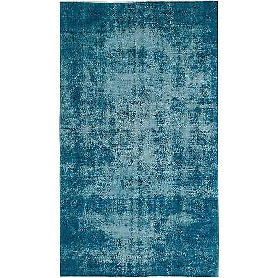 "Elegant Vintage Turkish Overdyed Rug- 5'1"" x 8'10"""
