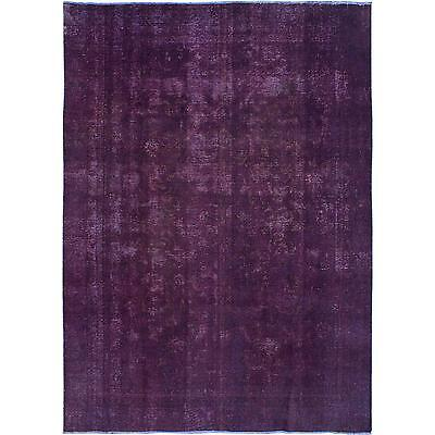 """Lovely Vintage Persian Overdyed Amethyst Rug- 7'5"""" x 10'4"""""""
