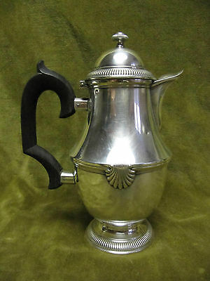 early 20th c french sterling silver (950) coffee pot for2 Regence st shells 257g