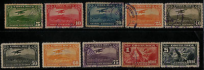 1934 Costa Rica Air Stamp(F.used) S.g.198,199,201-207,209
