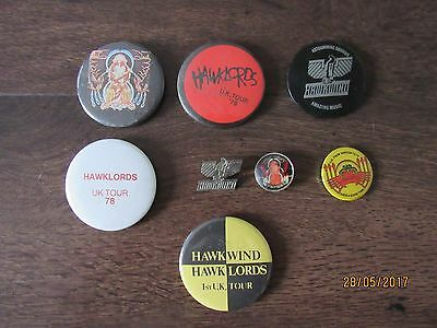 Hawkwind - collection of 8 tour badges