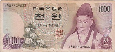(NI-219) 1983 South Korea 1000 Won bank note (B)
