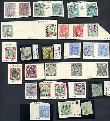 1902-1911 Great Britain Stamps Lot of 30 Scott's # 127 - 148