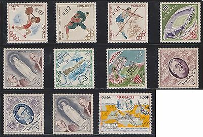 (U27-7) 1960-2004 Monaco mix of 20 stamps value to 3F (B)