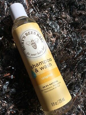 2 LEFT!  Burts Bees 🐝 Baby Shampoo Wash 8 Fl Oz 99.9% Natural combined shipping