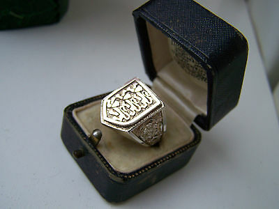 Vintage Sterling Silver Lions Crest Fa Football Team England Signet Ring Size R