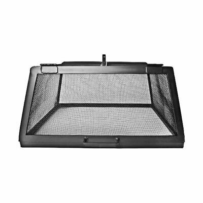"""Master Flame 26"""" x 26"""" SS Fire Pit Screen w/Hinged Access Panels"""