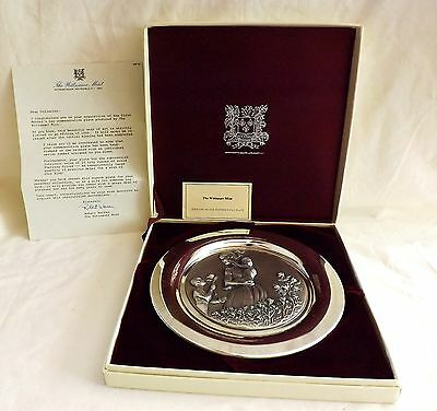 Wittnauer Mint Sterling Silver 1974 Mother's Day Commemorative Plate Orig Box &