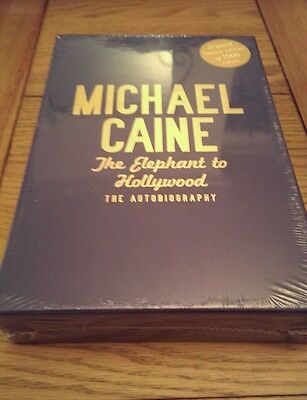The Elephant to Hollywood Michael Caine SIGNED Hardback Limited edition book