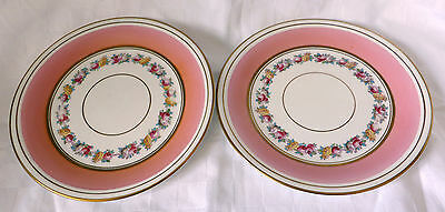 attractive  Pink  Continental Dessert Plates  decorated with flora