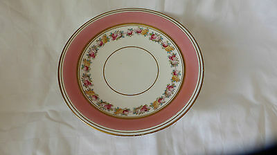 An attractive  Pink  Continental low Tazza decorated with flora