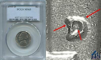 Pcgs Ms-65 1955-D D/s Omm-2 Womm-2 Stage-B Jefferson Nickel! Finest Known! *naoh