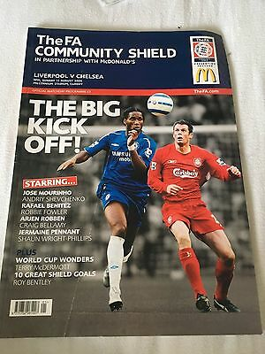 Chelsea v Liverpool 2006 community shield cup final