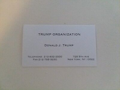 Donald Trump business card Trump Organization