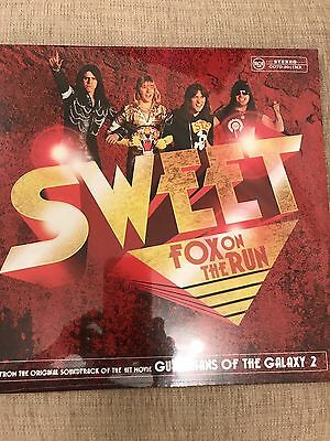 "Sweet - Fox On The Run 12"" Yellow Vinyl Single Limited Record Store Day Rsd 2017"
