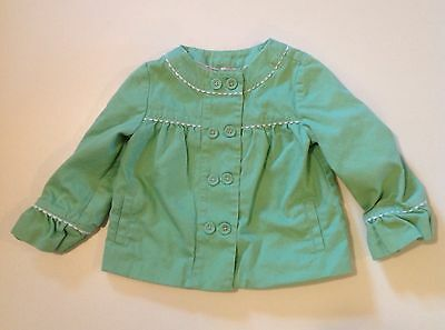 Janie And Jack Green Spring Jacket Size 12 To 24 Months Baby Girl