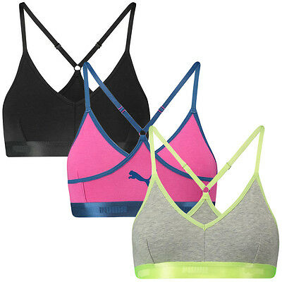 1ace747e95 PUMA Women s Bralette Comfort Control Bra Gym Top - Available in 3 Colours