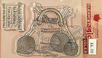 Woodware Clear Magic Stamp - Knitting Bag JGS433