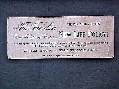 Travelers New Life Policy Collectible Blotter Advertising