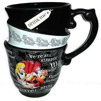 Alice In Wonderland Stacked Coffee Tea Mug Cup Disney World Theme Parks NEW