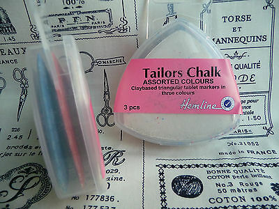 Hemline Tailor's Chalk | Pack of Three | Sewing | Haberdashery | Dressmaking
