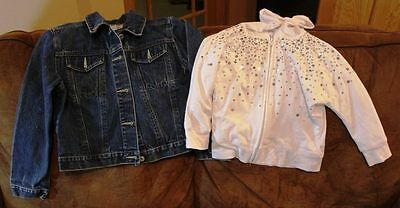 Lot of 2 Jackets, Jean and Knit - Size Girls 8