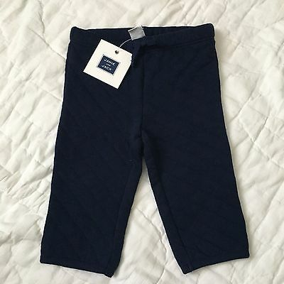 Janie and Jack Infant Baby Boy Navy Blue Quilted Pants Size 3-6 Months