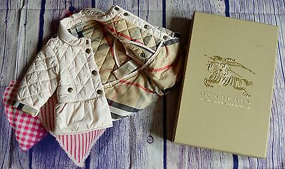 New!!! Burberry Baby Girls Designer Pink Quilted Jacket 6 Months