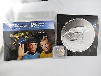 Star Trek 50th anniversary stamp booklet and $20 Pure Silver coin