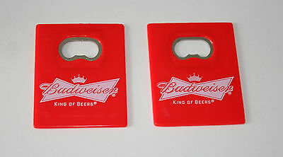 Budweiser Brewing Flat Red Card King of Beers Beer Ad Promo Bottle Opener New