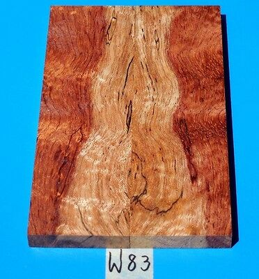Pomelle~Curly~Spalted Bubinga Knife Blank Handle Scales<>Exotic Wood Lumber