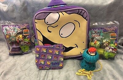 1997 Viacom Rugrats Children's Backpack & Coin Purse And BK Rugrat Toys 1998-03