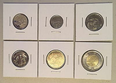 CANADA 2017 New Complete circulation set 150th of Canada NO COLOR (BU From roll)