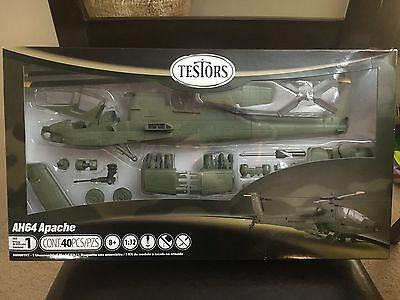 1/32 US Army AH64 Apache Attack Helicopter Model Testors Kit NIB perfect