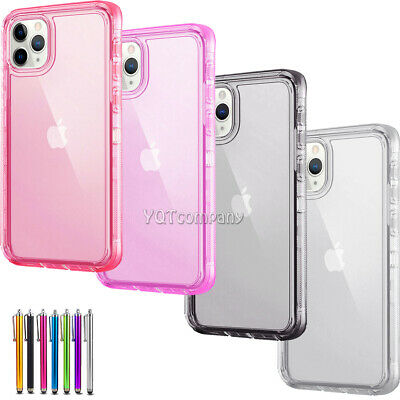 For Apple iPhone 7 6S 6 Plus 8 XR Ultra Clear Shockproof Bumper Hard Case Cover