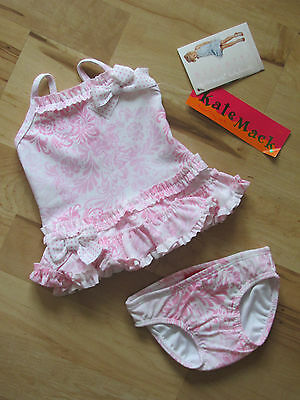 Kate Mack Infant Girls 3 Month 2 Piece Pink Tankini Flower Print Swim Suit NWT
