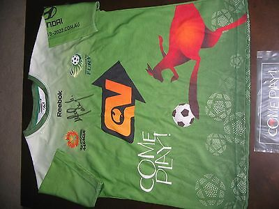 North Queensland Fury Ufuk Talay Player Worn Soccer Jersey Come Play Round