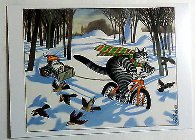 Set of 4 B. Kliban cards – CAT HOLIDAY