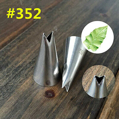 Leaf Shape Icing Piping Tips Nozzle Cake Cupcake Decorating Pastry Baking Tool