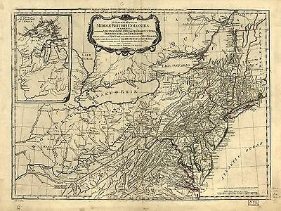 12x18 inch Reprint of American Map Canada