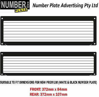 Number Plate Cover NSW / SA - Premium Screw On - pinstripe lines