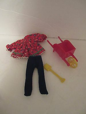 Mattel TUTTI Doll Skippin Rope Outfit w Wheel Barrow OUTFIT ONLY