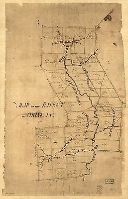 12x18 inch Reprint of American Cities Towns States Map Patent Oriskany