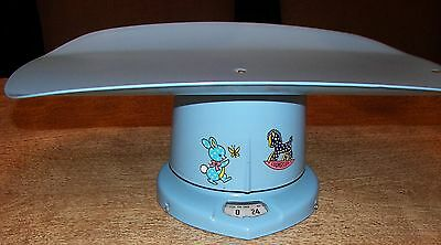 Vintage 1964 Brearley Counselor 25 Pound Baby Nursery Scale Baby Blue Color EUC