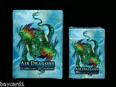 2 Deck Set ~ AIR DRAGONS ~ POKER Size And MINI Deck Playing Cards
