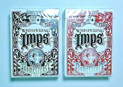 2 DECK SET ~ LIMITED EDITION GAMESTERS - Whispering Imps Playing Cards