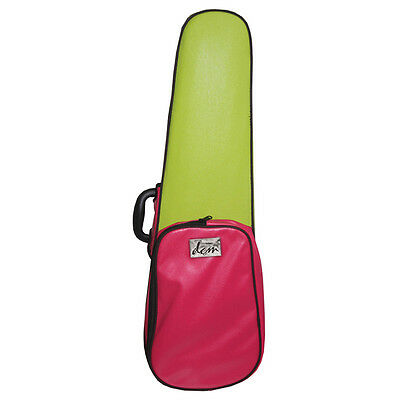 Funky Pink And Green Leather  - Shaped Violin  Case 3/4 Size