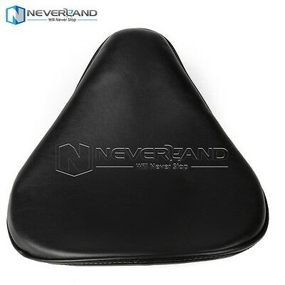 """13.4"""" x 13.8"""" Motocycle Leather Solo Seat For Harley Chopper Bobber Sportster"""
